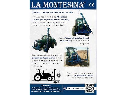 "Atomizadores LA MONTESINA Inyectora de abono liquido mod M-IJ"""