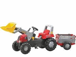 Comprar online Pedales AGROMATIK tractor infantil juguete a pedales  junior con pala y rem. balderas de segunda mano