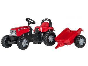 Ofertas Tractores de juguete Case IH tractor infantil de juguete a pedales case con remolque De Ocasión