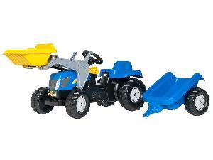 Comprar online Pedali New Holland tractor infantil de juguete a pedales nh  con remolque y pala de segunda mano