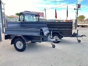 Ofertas Reboques para Veículos AGRICOLA NEVADA remolques para 4x4 con basculante y freno De Segunda Mão