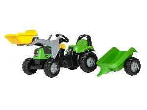 Venda de Tractores de juguete Deutz-Fahr tractor infantil de juguete a pedales deutz con remolque y pala usados