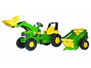 Buy Online Tractores de juguete John Deere tractor infantil juguete a pedales jd junior con pala y rem. balderas  second hand