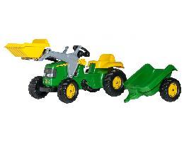 Pedales Tractor infantil de juguete a pedales JOHN DEERE con remolque y pala John Deere