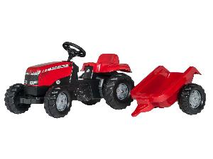 Buy Online Tractores de juguete Massey Ferguson tractor infantil de juguete a pedales mf  con remolque  second hand