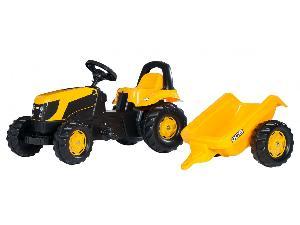 Venta de Pedales JCB tractor infantil juguete a pedales con remolque usados