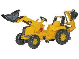 Pedales Tractor infantil de juguete a pedales CAT CATERPILLAR con pala y retro. Caterpillar