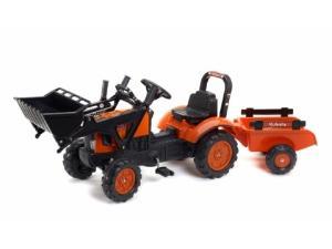 Verkauf von Pedales Kubota tractor infantil de juguete a pedales  m-7171 con remolque y pala gebrauchten Landmaschinen