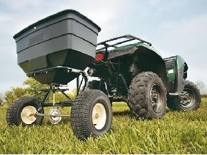 Acheter en ligne Épandeur trainé AgroRuiz abonadora, sembradora arrastrada 80kg  d'occasion