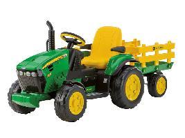 Pedales Tractor infantil juguete a pedales JD JOHN DEERE  con remolque John Deere