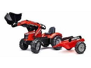 Acheter en ligne Pédales Massey Ferguson tractor infantil de juguete a pedales mf  8740s c/pala y remolque  d'occasion