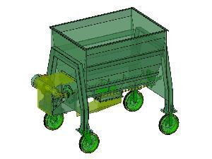 Ofertas Misturadora automotor Horizontal Desconocida mixer (mezclador de alimento animal).  planos completos del equipo. De Segunda Mão