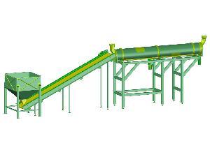 Venda de Secadouros Desconocida línea de secado con horno rotativo y con silo alimentador usados