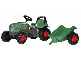 Pedales Tractor infantil juguete a pedales FENDT con remolque Fendt