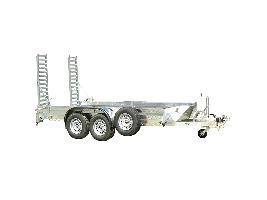 Remolques porta-maquinas dos ejes (ruedas fuera de la caja) Hibema