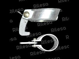 Abrazadera aluminio 63 equipada Riegos Lebrija
