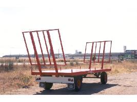 Plataforma de paja con soporte regulable - 2 ejes Tabares