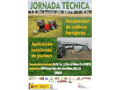 Jornada técnica sobre recolección de cultivos forrajeros y aplicación localizada de purines - 0