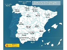 La reserva hídrica española se encuentra al 50 por ciento de su capacidad
